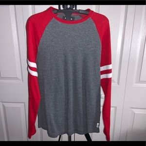 Express: Red & Grey Long Sleeve Top (L)